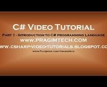 Part 1 – C# Tutorial – Introduction.avi